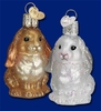 Item # 425667 - Blown Glass Baby Bunny Christmas Ornament