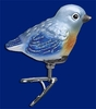 Item # 425668 - Blown Glass Baby Bluebird Ornament