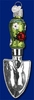 Item # 425670 - Blown Glass Garden Trowel Christmas Ornament