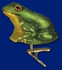 Item # 425676 - Blown Glass Clip-On Frog Ornament