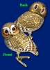 Item # 425687 - Blown Glass Pygmy Owl Christmas Ornament