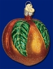 Item # 425702 - Blown Glass Peach Christmas Ornament