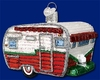 Item # 425706 - Blown Glass Travel Trailer Christmas Ornament