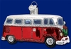 Item # 425732 - Blown Glass Camper Van Christmas Ornament