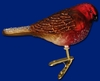 Item # 425734 - Blown Glass Holiday Finch Ornament