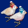Item # 425738 - Blown Glass Snowbird Ornament