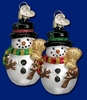 Item # 425746 - Blown Glass Miniature Mr. Snowy Christmas Ornament