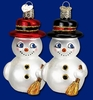 Item # 425747 - Blown Glass Cute Snowman Ornament