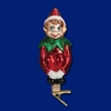 Item # 425748 - Blown Glass Christmas Pixie With Clip Ornament