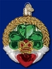 Item # 425764 - Blown Glass Claddagh Christmas Ornament