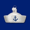 Item # 425765 - Blown Glass Sailor Hat Ornament
