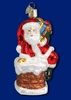 Item # 425770 - Blown Glass Santa In Chimney Ornament