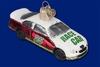 Item # 425776 - Blown Glass Race Car Christmas Ornament