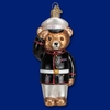 Item # 425784 - Blown Glass Marine Bear Christmas Ornament