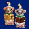 Item # 425789 - Blown Glass Caroling Mouse Christmas Ornament