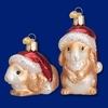 Item # 425790 - Blown Glass Christmas Bunny Christmas Ornament