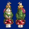 Item # 425794 - Blown Glass Frog Prince Christmas Ornament