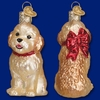 Item # 425796 - Blown Glass Cockapoo Puppy Christmas Ornament