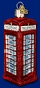 Item # 425807 - Blown Glass English Phone Booth Ornament