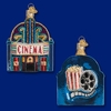Item # 425809 - Blown Glass Majestic Cinema Christmas Ornament
