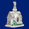Item # 425810 - Blown Glass Sparkling Cathedral Ornament