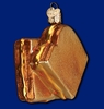 Item # 425821 - Blown Glass Grilled Cheese Sandwich Ornament