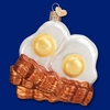 Item # 425827 - Blown Glass Bacon and Eggs Ornament