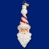Item # 425832 - Blown Glass Peppermint Twist Santa Christmas Ornament