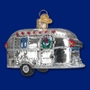 Item # 425836 - Blown Glass Vintage Trailer Christmas Ornament