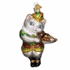 Item # 425848 - Blown Glass Cat And The Fiddle Ornament