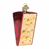 Item # 425888 - Blown Glass Cheese Wedge Ornament