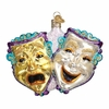Item # 425921 - Blown Glass Comedy and Tragedy Ornament
