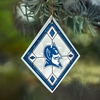 Item # 432083 - Duke University Blue Devils Art Glass Christmas Ornament