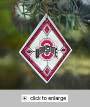 Item # 432090 - Ohio State University Buckeyes Art Glass Ornament