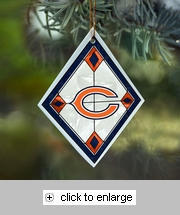 Item # 432101 - Chicago Bears Art Glass Ornament