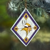 Item # 432110 - Minnesota Vikings Art Glass Christmas Ornament