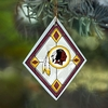 Item # 432111 - Washington Redskins Art Glass Christmas Ornament