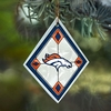 Item # 432116 - Denver Broncos Art Glass Christmas Ornament