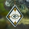 Item # 432118 - Green Bay Packers Art Glass Christmas Ornament