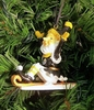 Item # 432213 - Pittsburgh Steelers Elf On Sled Ornament