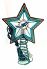 Item # 432285 - Miami Dolphins Light Up Christmas Tree Topper