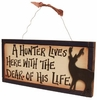 Item # 455004 - A Hunter Lives Here Plaque