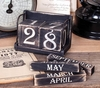 Item # 455005 - Set of 6 Vintage Perpetual Calendar Blocks