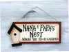 Item # 455025 - Nana and Papa's Nest Sign