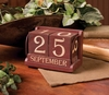 Item # 455026 - Red Perpetual Calendar Blocks Set