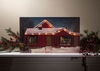 Item # 455254 - Lighted Christmas Storefront Canvas Wall Hanging