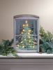 Item # 455264 - Lighted Glistening Pines Canvas Wall Hanging