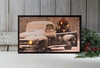 Item # 455423 - Lighted Merry Christmas Classic Truck Canvas Wall Hanging