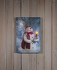 Item # 455436 - Lighted Woodland Snowman Canvas Wall Hanging