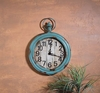 Item # 456079 - Weathered Blue Clock Wall Hanging